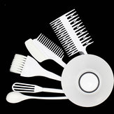 6pcs Hair Dyeing Kit Hair Color Mixing Bowls Hairdressing Brush Comb Sectioning Kit Salon Hair Color