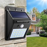2 pz solare Power 20 LED PIR Sensore di movimento a parete impermeabile Outdoor Path Yard Garden Security lampada