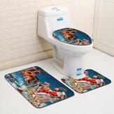 LavávelBanheirotampasdeassentodo toalete Banheiro Tapete anti deslizamento Banheiro esteiras do assoalho do banho da esteira ajustada