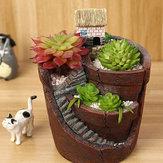 Enforcamento jardim maconha micro paisagem carne planta vasos casa pequena resina decoração