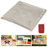 Camping Fireproof Grill Mat Cloth Flame Retardant Ember Mat Blanket Heat Insulation Pad For Outdoors Barbecue