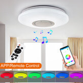 Dimmable LED RGBW Ceiling Light bluetooth Music Speaker Lamp APP Remote Control