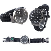 IPRee® 5 В 1 EDC Survival Compasss Bracelet Watch Camp Emergency Nylon Paracord Wristband