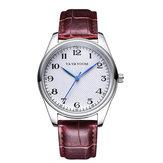 VA VA VOOM VA-203 Leather Strap Business Style Quartz Watch