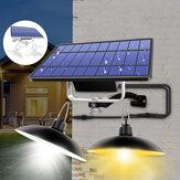 Cabeça dupla LED Luz Solar Retro Pingente Lâmpada IP65 Em Casa Ao Ar Livre Para Camping Quintal Jardim