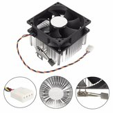 4PIN 12V Socket PWM Ventilateur 7 Ventilateur CPU Cooler Radiateur en aluminium AMD Copper Core