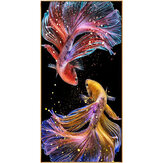 DIY 5D Diamond Painting Koi Goldfish Hanging Pictures Handmade Living Room Porch Decorations Gifts Drawing for Kids Adult