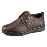 Men Microfiber Leather Warm Lined Non Slip Business Casual Shoes