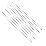 10Pcs 1.0/1.6 /2.4mm TIG Welding Tungsten Electrode 150mm WT20 Red Tip Rod