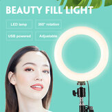 LED Ring Fill Light Dimmable Lamp Camera Phone Stand Make Up Video Live Studio
