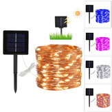 50/100 / 200LED Luz solar externa à prova d'água Fairy Garland Luzes de corda Decoração de lâmpada solar de jardim de festa de Natal