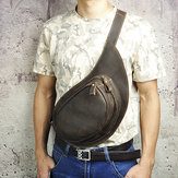 Men Genuine Leather Large Capacity Crossbody bag