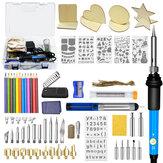 87Pcs 110V ~ 240V 60W DIY temperatura ajustável elétrica Solda Kit de ferramentas de soldagem de ferro