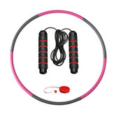 8 Knots Fitness Hoop Removable PE Yoga Waist Exercise Slimming Hoop Fitness Circle Indoor Gym with Tape Measure Jump Rope