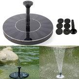 7V Energia słoneczna Pływające bezszczotkowe pompy wodne Krajobraz ogrodowy Zatapialna fontanna