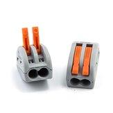 20PCS 2Pin PCT-212 Mini Fast Fio Conectores Bloco de terminais push-in de fiação compacta universal