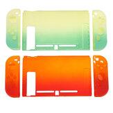Renkli Darbeye Dayanıklı Kabuk Degrade Kılıf Koruyucu Nintendo Anahtarı Oyun Konsolu için Koruyucu Sert Kılıf Rocker Cap ile Kapak