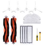 14 peças de acessórios de aspirador de pó robô principal Escova lado Escova filtro pente parafuso esfregão pano [não original]