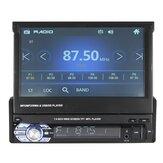 7 Inch 1 DIN Coche Estéreo Radio Auto MP5 MP4 Reproductor de DVD MP3 Pantalla táctil Bluetooth retráctil USB AUX FM Soporte Retrovisor Cámara