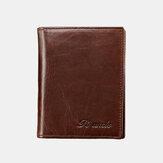 Ανδρικό γνήσιο δερμάτινο RFID αντικλεπτικό κουλοχέρη 15 καρτών Bifold πορτοφόλι πορτοφόλι