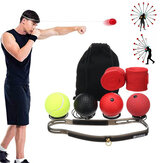 4 Pcs Speed Fight Ball Silicone Headband Boxing Training Boxer Punch Exercise Tools with Hand Straps