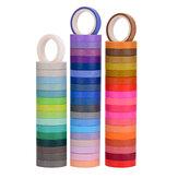 60 unidades / conjunto fita de lavagem de cor sólida 8 mm fita de máscara arco-íris adesivo decorativo para álbum de recortes e artigos de papelaria