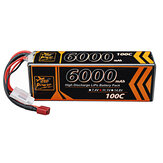 ZOP Power 11.1V 6000mAh 100C 3S Lipo Battery T Deans Plug for RC Car