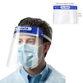 Anti-fog Transparent Plastic Full Face Shield Protective Face Mask Anti-Spitting Splash Facial Cover With Forehead Cushion