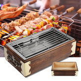 Portable Stainless Steel Wood BBQ Grill Barbecue Cooking Household BBQ Stove
