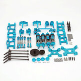 Wltoys 1/14 144001 124291/12ショックアダプターセット付きのアップグレードメタルアップグレードパーツRCカーパーツ