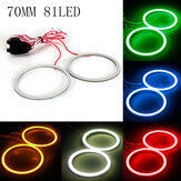 70MM COB LED Angel Eyes Lights Halo Ring lampada 12V-24V 300LM per BMW
