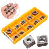 10pcs CCMT09T308 VP15TF Pastilhas de metal duro para SCKCR / L SCLCR / L Holder