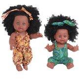 30 cm 12 cali Śliczne Soft Realistyczne silikonowe realistyczne ramiona Nogi Ruchome Reborn African Baby Doll