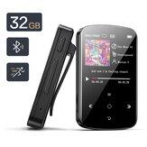 BENJIE M9 32GB Mini USB MP3 Sportowy odtwarzacz multimedialny 1,5-calowy kolorowy ekran bezprzewodowy Bluetooth 4.2 z przenośnym klipsem Gniazdo karty TF