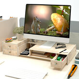 Multi-function Desktop Monitor Stand Wood Shelf Plinth Computer Screen Riser Laptop Strong Laptop Stand Holder Wooden Lapdesks