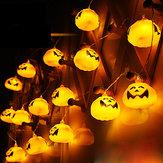 2.7M 16 LED Luci della stringa zucca di Halloween LED Luci fiabesche per il festival Halloween di Natale
