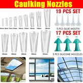 17/19 PCS Siliconen Caulking Finisher Tool Scraper Set Nozzles Spatels Filler