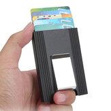 IPRee® Alüminyum Alaşım Kart Sahibinin Kredi Kartı Kılıf KIMLIK Kartı Kutu Metal Cüzdan Erkekler Klip Iş Seyahat
