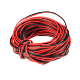 3PCS LUSTREON 10M Tinned Copper 22AWG 2 Pin Red Black DIY PVC Electric Cable Wire for LED Strips