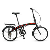 FOREVER 20inch Folding Bike 7-Speed Youth Bicycle Double Disc Brake Shock Absorption Road Bike
