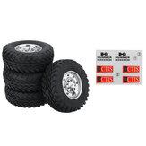 4PCS HG P415 1/10 RC Car Spare Tires Wheels w/ Sticker Sheet 4ASS-PA008 Vehicles Model Parts