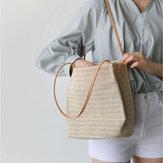 Women Woven Shoulder Bag Handbag Beach Bag