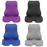 Sente-se e encoste-se com espuma de memória lombar Apoio para as costas Almofada Almofada Apoio para as costas Almofada Encosto para cadeira de escritório Assento de automóvel