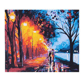 Romantic street lights DIY Painting By Numbers Handpainted Oil Painting Living Room Home Wall Decor Artwork
