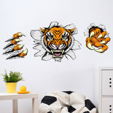 Creative Company Office Decorations Muurstickers Domineering 3D Tiger Broken Wall 30 * 90CM