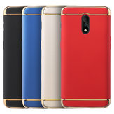Bakeey Ultra-thin 3 in 1 Plating Frame Splicing PC Hard Protective Case For OnePlus 6T