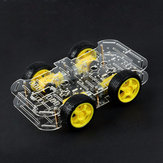 DIY 4WD ذكي Robot Car Double-Deck Chassis Kit with Speed ​​التشفير