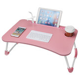USB Computer Desk Multifunctional Portable Bed Computer Desk Lazy Foldable Lazy Laptop Table for Home Office Dormitory