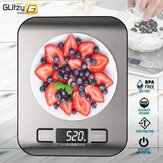 5/10kg Digital Multi-Function Food Kitchen Scale Stainless Steel Fingerprint-proof Finish Platform with LCD Display Baking Scale for Cooking Baking