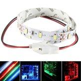 50cm smd 5630 no impermeable LED tira flexible de luz pc caja de la computadora de la lámpara adhesiva 12v